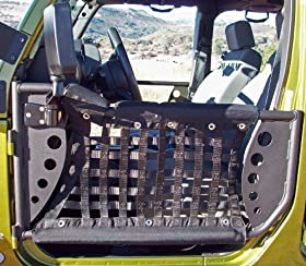 Body Armor 4x4 JK-6135Black - Steel Front Trail Doors 2007-2013 JK Jeep Wrangler (Pair)