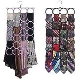 Scarf Hanger Closet Door Organizer, the No Snags Best Space Saving Hanger for Infinity Scarves and Tie Rack (1-Lt Purple)