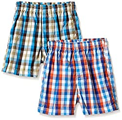 Seals Boys' Shorts (Pack of 2) (AM8143_1_ASSORTED_4)