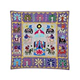 Rajrang Home Décor Embroidered Patch Work Gray Wall Hanging - B00TQRLASY