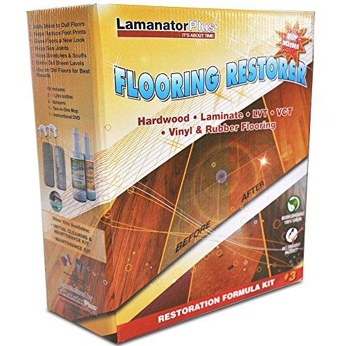 Lamanator Plus Floor Restoration Kit - Clean, Shine & Restore Laminate ...