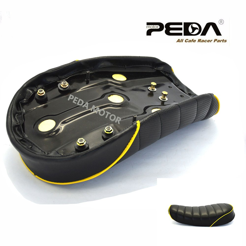 PEDA New Motorcycle Vintage Seat For HONDA Monkey Z Retro Hump Yellow 3