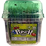 Wrapped Sour Punch Candy Straw Twists 4 Flavors - 195 Ct. Tub,4.23LBS (1918g )