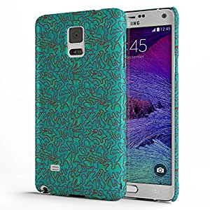 Koveru Designer Protective Back Shell Case Cover for Samsung Galaxy Note 4 - Green Ethy