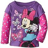 Disney Little Girls'Minnie Mouse Butterfly Long Sleeve Tee
