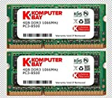 Komputerbay 日本進出記念 8GBメモリ 2枚組 DDR3 1066 4GBX2  DUAL 204pin 1066MHz SODIMM ノート パソコン用 増設メモリ 4GB デュアル Apple ランキングお取り寄せ