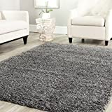 Safavieh California Shag Collection SG151-8484 Dark Grey Area Rug, 8 feet by 10 feet (8' x 10')