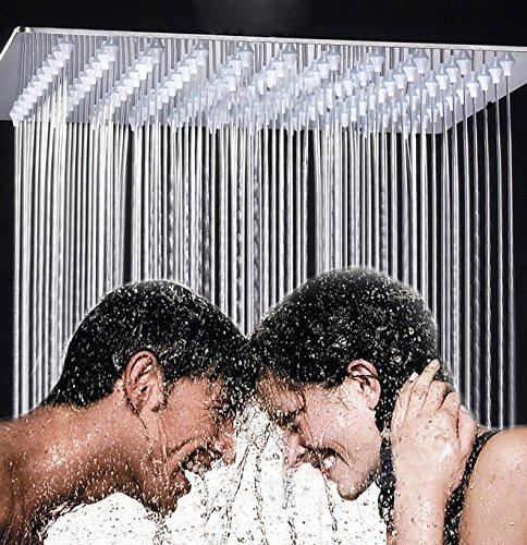 Chrome Brass 24 Inches Top Shower Head Bath Square Spray Head (Shower Head Square compare prices)