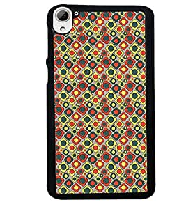 Fuson Premium Irregular Designs Metal Printed with Hard Plastic Back Case Cover for HTC Desire 826