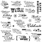 Fiskars 8-Inch by 8-Inch Quote Clear Stamps, Make A Wish