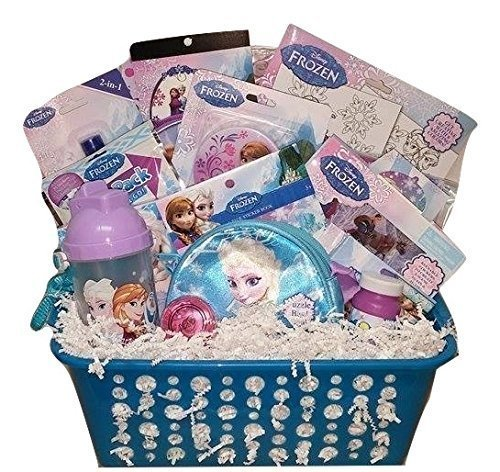 Frozen easter baskets easter wikii disney gift basket perfect for girls 3 8 years old bundle a beautiful gift basket for girls birthdays celebrations and get well presents original and negle Gallery