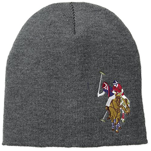 U.S. Polo Assn. Men's Solid Beanie, Heather Grey, One Size (Us Polo Assn compare prices)