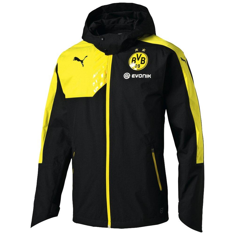 PUMA Kinder Jacke BVB Rain Coach with Hood und Sponsor günstig online kaufen