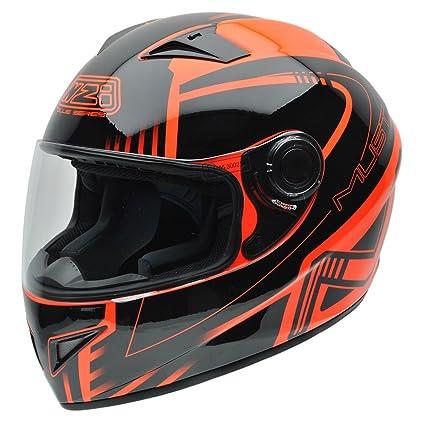 NZI 150196G677 Must II XLogo Orange, Casque de Moto, Taille M Multicolore