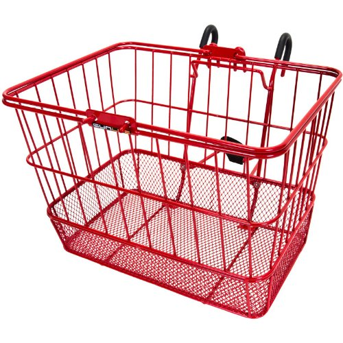 Sunlite Standard Mesh Bottom Lift-Off Front Basket With Bracket - Red front-47672