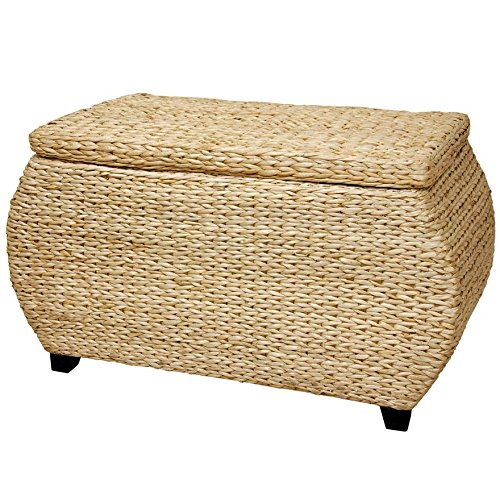 Oriental Furniture Rush Grass Storage Box - Natural (Wicker Storage Ottoman compare prices)