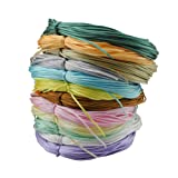 Inspirelle 12-Color 1.2mm Satin Nylon Trim Cord Rattail Silk Cord Chinese Knot Thread for Jewelry Making (20 Yards Each Color, Light Colors) (Color: Light, Tamaño: 1.2mm)