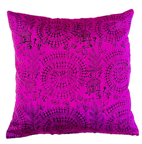 the-indian-promenade-16-x-16-inch-blended-cotton-warli-print-cushion-cover-bright-purple