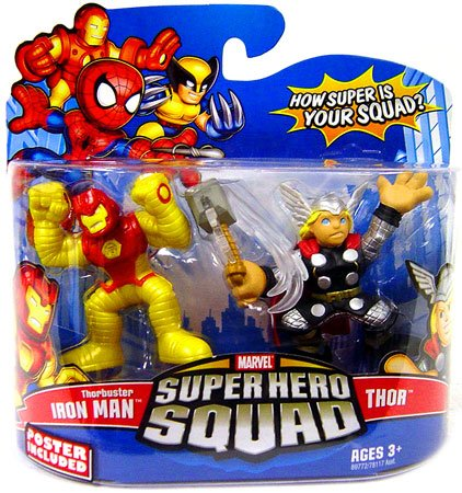 Marvel Superhero Squad Series 13 Mini 3 Inch Figure 2-Pack Thorbuster Iron Man and Thor (Ironman Action Figures 3 Inches compare prices)