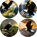 "CoasterStone AS1000 Absorbent Coasters, 4-1/4-Inch, ""Eagles"", Set of 4"