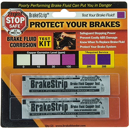 Phoenix Systems (3003-B) Brake Fluid Test Strips, 2 Strips Per Package, Reveals Brake Fluid Condition (93 Honda Accord Brake compare prices)