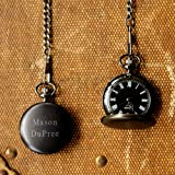 Personalized Midnight Pocket Watch GROOMSMAN GIFTS