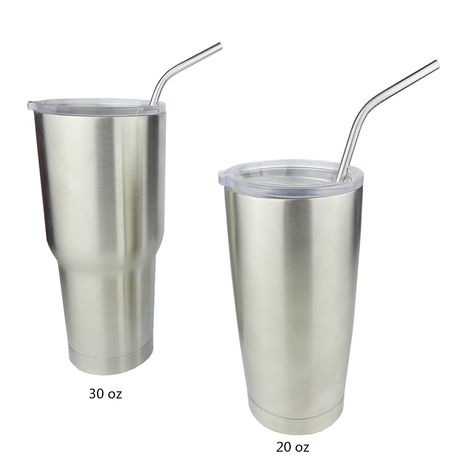 5 Extra Long 18/8 Stainless Steel Drinking Straws Fits 20 Oz & 30 Oz Yeti Rambler Tumbler Cups By Ehme Brand,free Cleaning Brushed Included (10.5
