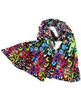 Prettystern - 160cm Art Printing based print long Silk scarf shawl - 3 colours