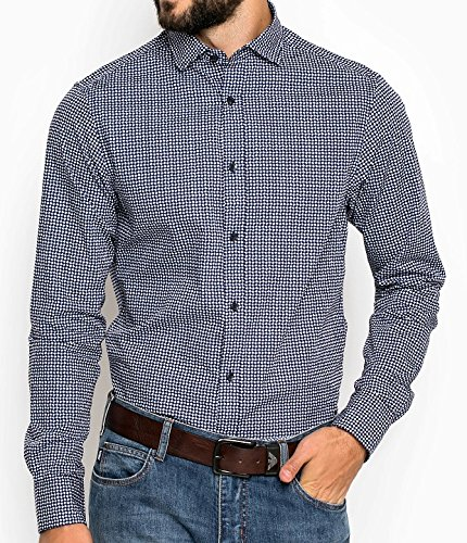 Armani -  Camicia Casual  - Maniche lunghe  - Uomo blu XX-Large