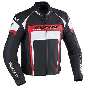 Ixon - Blouson moto - IXON Fueller Noir/blanc/rouge