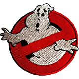 Ghostbuster Comic Film Patch '' 9 x 7,5 cm '' - Embroidered Iron On Patches Sew On Patches Embroidery Applikations Applique
