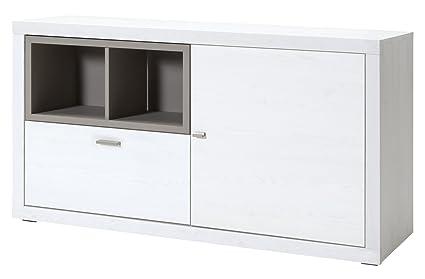 CS Schmalmöbel 89.156.140/20 TV-Möbel / Sideboard, Holz, sibiu lärche / congo, 139 x 42 x 77 cm