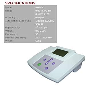 Fristaden Lab Benchtop pH Meter | 0.01 pH Accuracy | Scientific pH Meter for Soil, Wine, Beer and More | Digital Bench Top pH Meter and Electrode