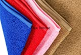 #5: Tex Home Set of 4 Microfibre Towel Cloth for Cleaning Cars, Furniture, Home, 60 cm * 40 cm Red, Blue, Brown, Pink Microfiber towel