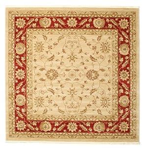 FeelGoodRugs 200 x 200 cm Ziegler Fumanat Oriental Square Carpet Rug, White from CarpetVista