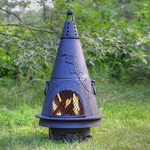 Outdoor-Chimenea-Fireplace-Garden-in-Charcoal-Finish-Without-Gas