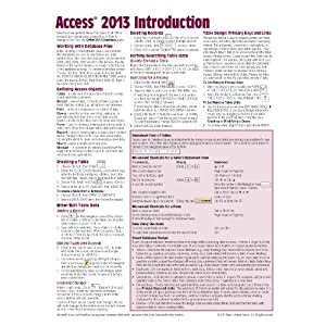 Microsoft Access 2013 Introduction Quick Reference Guide (Cheat Sheet