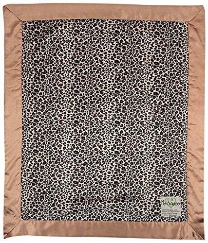 "My Blankee Leopard Minky Baby Blanket, 30"" X 35"", Brown"