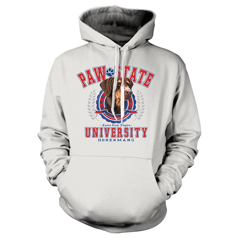Kapuzen-Sweatshirt Hoodie Hunde Aufdruck: Paw State – Doberman – trendiges Tier Motiv günstig online kaufen