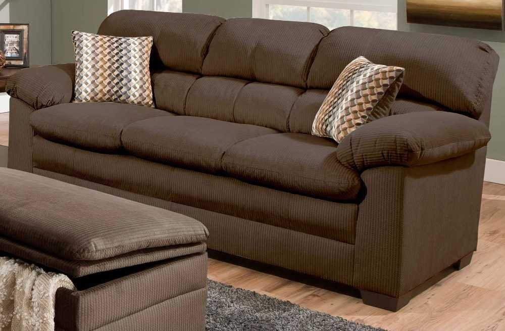 XPRESS Simmons Upholstery Lakewood Sofa 3685- Cappuccino