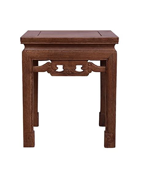 WUFENG Banco pequeño multifunción del taburete de madera retro del ala de pollo, color antiguo, 36 * 36 * 42 cm
