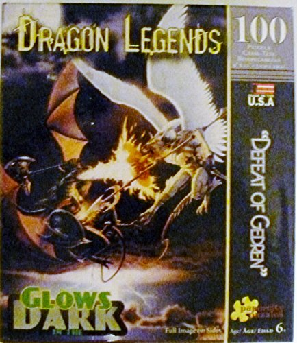 Dragon Legends 100 Piece Glow in the Dark 'Defeat of Gedren' Jigsaw Puzzle