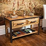 Glendora Industrial Flare 2-drawer Solid Wood Console Table