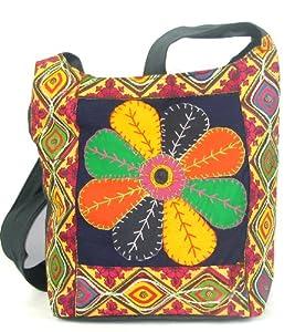 Black Womens Cross Body Bag  Beautiful Tote Beach & Shopper Bag  Canvas Travel Bag