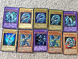 10 Yugioh Cards - Chance at Blue Eyes White Dragon, Blue Eyes Ultimate Dragon, & Blue Eyes Shining Dragon - Read Description For Awesome Deals!!