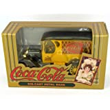 Coca-Cola Vintage Red Bottle Truck Coin Bank (Color: yellow)