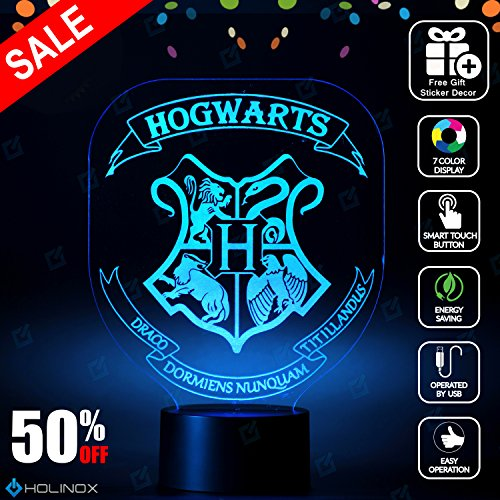 Harry Potter Hogwarts Lighting Decor Gadget Lamp + Sticker Decor for Perfect Set, Awesome Gift (MT029)
