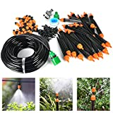 Drip Irrigation Kit- 82FT Irrigation Pipe, Irrigation Spray , Complete Irrigation Parts, Perfect Irrigation Systems for Flower Bed, Patio, Garden Greenhouse Plants