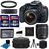 Canon-EOS-Rebel-T5-18MP-EF-S-Digital-SLR-Camera-Bundle-with-Battery-Pack-Stand-and-Accessories-Black-11-items