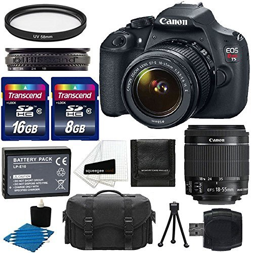 Check Out This Canon EOS Rebel T5 18MP EF-S Digital SLR Camera Bundle with Battery Pack, Stand and A...